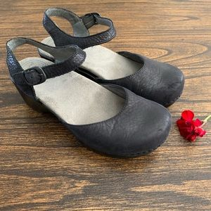 Dansko Chunky Heel Strappy Clog Sandals